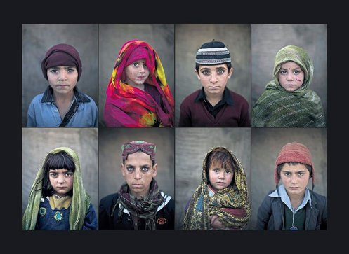 These haunting images show a few of the thousands of Afghan child refugees in Pakistan